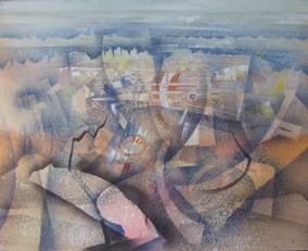 TEMPETE - HUILE SUR TOILE 80 x 100 cm - LOUIS TRABUC