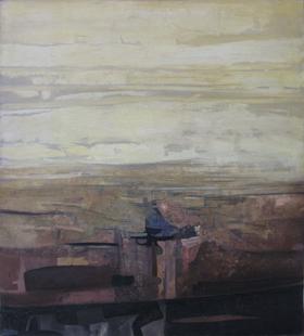 ESSENTIEL - HUILE SUR TOILE 100 x 90 cm - LOUIS TRABUC