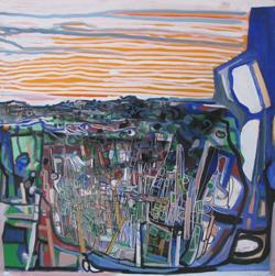 LUMINANCE - PANNEAU SUR BOIS 90 x 90 cm