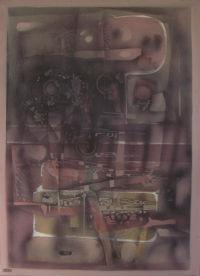 TRIPTYQUE - HUILE SUR TOILE 130 X 97 cm - LOUIS TRABUC