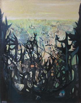 CLAIRS OBSCURS - HUILE SUR TOILE 73 x 93 cm - LOUIS TRABUC