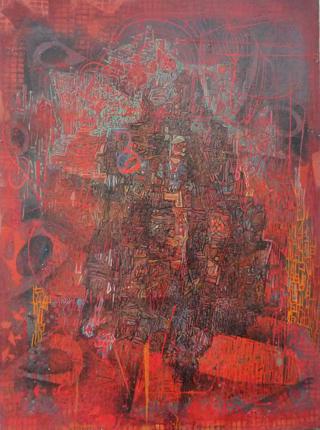 GARANCE - huile sur toile 54 X 74 CM - LOUIS TRABUC