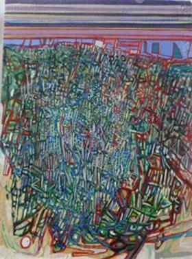 EXUBERANCE - HUILE SUR TOILE 30 x 40 cm