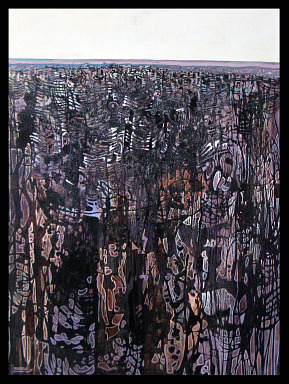 SRA DE CUENCA - HUILE SUR TOILE 81 x 60 cm - LOUIS TRABUC
