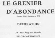EXPOSITION GRENIER D`ABONDANCE A SALON