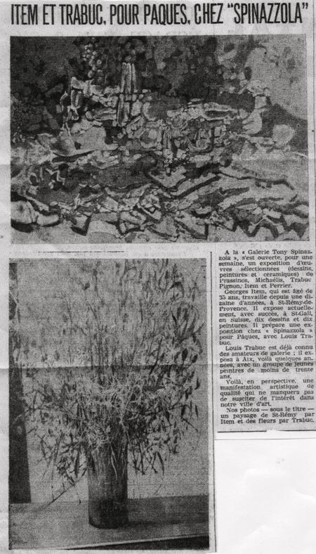 EXPOSITION ITEM - TRABUC DU 21 MARS 1964