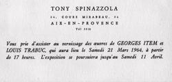 EXPOSITION 21 MARS 1964