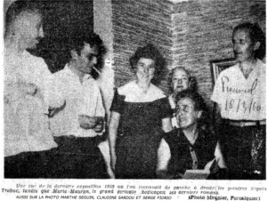 EXPOSITION LE CLOU AVEC MARIE MAURON - 1959
