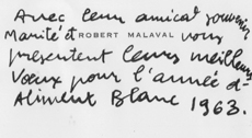 CARTE DE VOEUX ROBERT MALAVAL