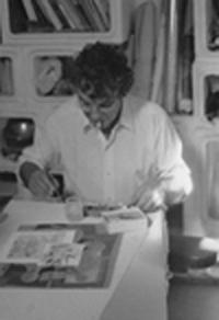 Louis dans son atelier